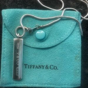 TIFFANY & CO Sterling Silver 1837 Bar Necklace
